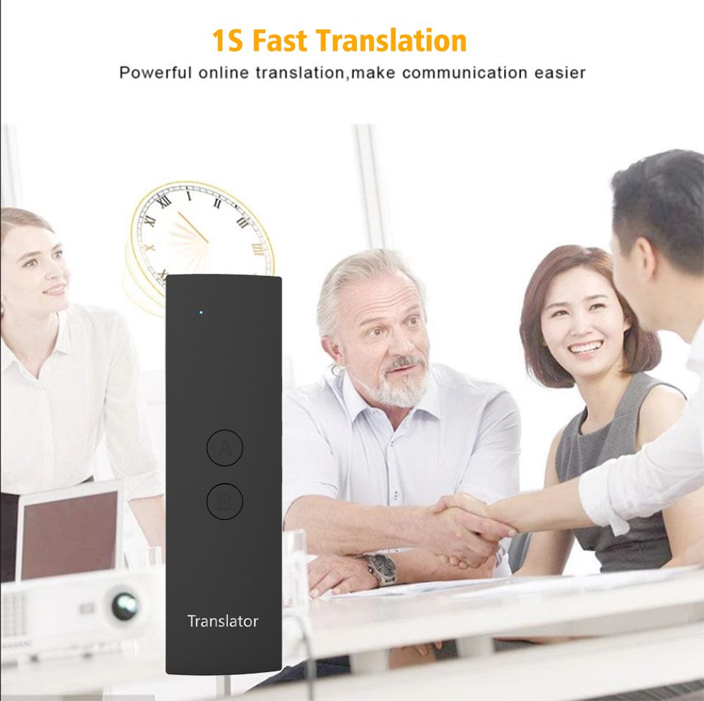 New Portable Smart Voice Translator 1 Second Fast Accurate Translation Long Standby For Meeting Study Travel Communication