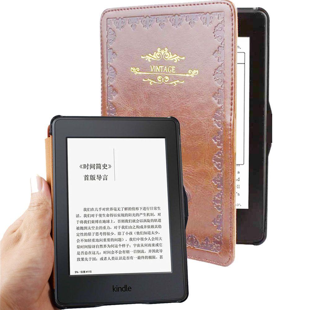 Pour kindle paperwhite DP75SDI étui en cuir smart Vintage couverture de livre pour amazon kindle paperwhite1 2 3 2015 2013 2012 étui à rabat