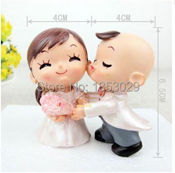 Бесплатная доставка Да Роуз жених и невеста пару фигурка свадебный торт топперы