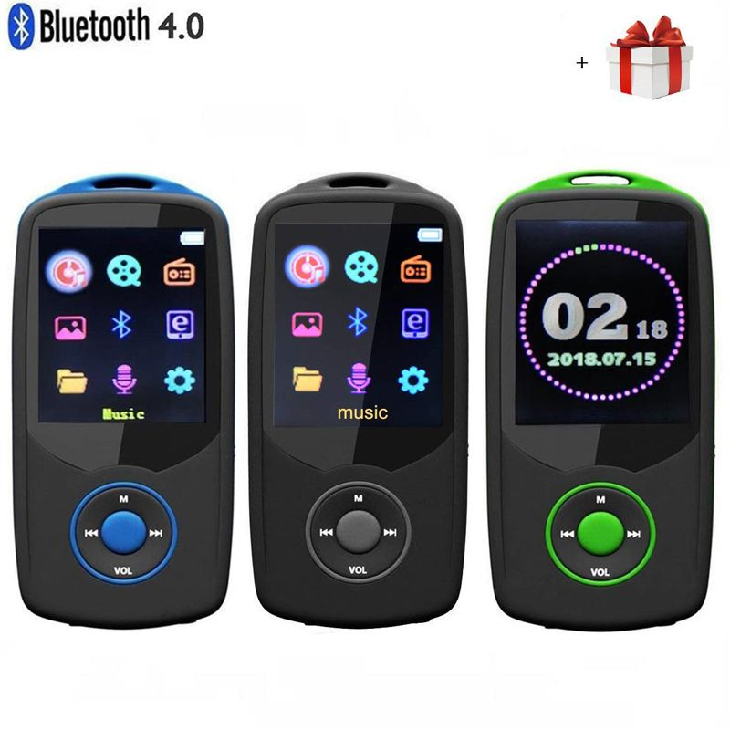 2018 Updated Version New RUIZU X06 Bluetooth4.0 MP3 Music Player 8GB/<font><b>16GB</b></font> Color Menu Screen High Quality with FM Radio,Recorder