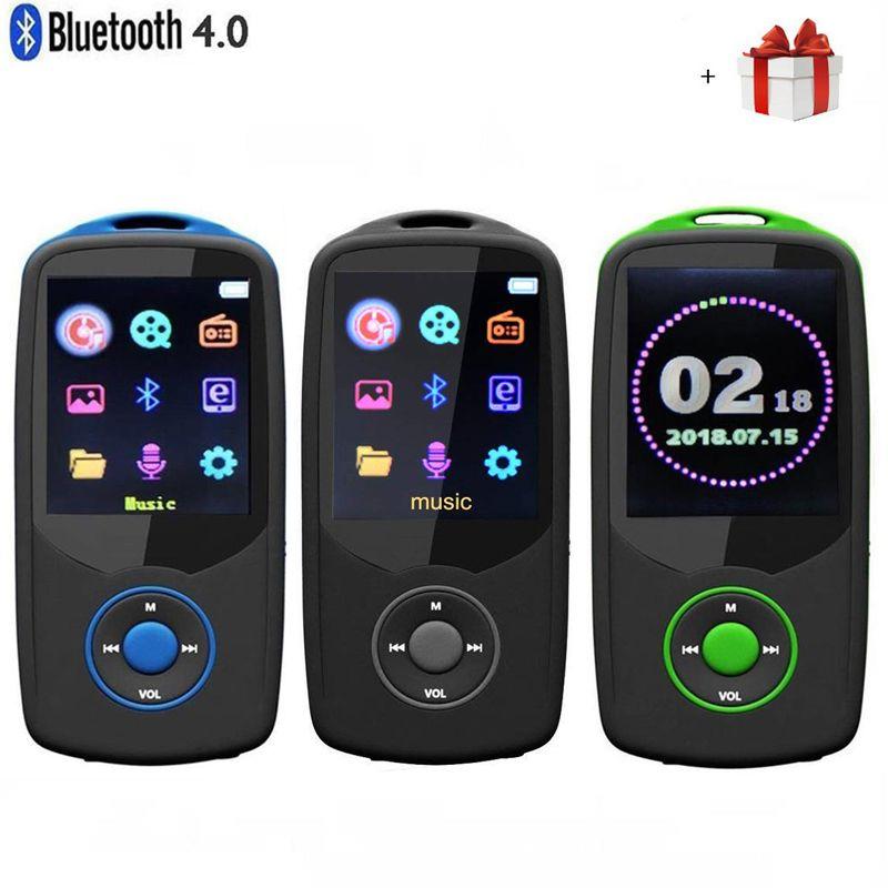 2018 Version Mise À Jour Nouveau RUIZU X06 Bluetooth4.0 MP3 Musique Lecteur 8 gb/16 gb Couleur Menu Écran Haute Qualité avec FM Radio, enregistreur