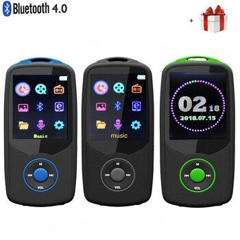 2019 Updated Version New RUIZU X06 Bluetooth4.0 MP3 Music Player Color Menu Screen High Quality Lossless with FM Radio,Recorder