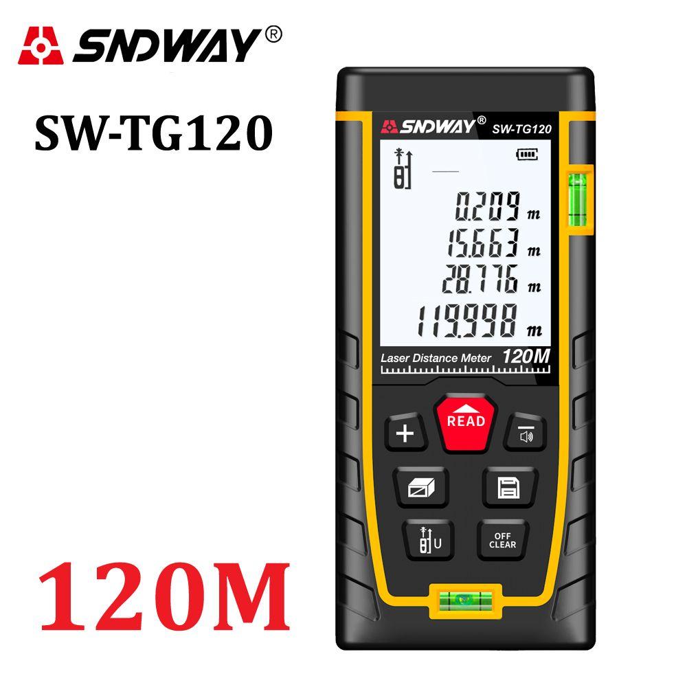 SNDWAY Laser Distance Meter 50m 70m 100m 120m Laser Range Finder rangefinder metro trena laser tape measure ruler Roulette tool