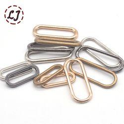 20 pcs/lot argent or bronze 20mm 25mm 30mm connexion ovale anneau alliage en métal chaussures sacs vêtement Boucles DIY Accessoire à coudre