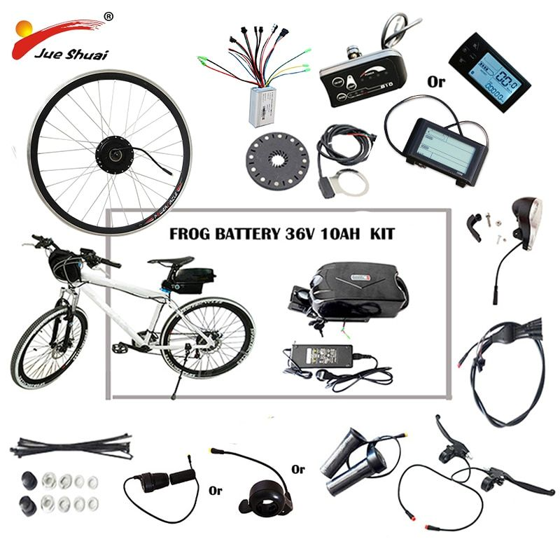 36V 48V Lithium Battery Electric Bike 250W/350W/500W eBike Kit Electric Bike Conversion Kit Fit for 20