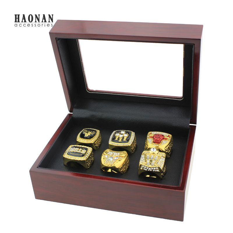 Полный набор (6 шт.) 1991 1992 1993 1996 1997 1998 быков Чемпионат кольцо Размер 11 Best подарок для Вентиляторы коллекция