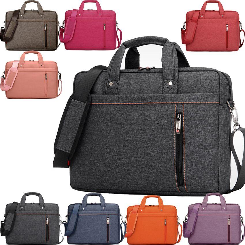 Burnur 12 13 14 15 15.6 17 17.3 Inch Waterproof Computer Laptop Notebook Tablet Bag Bags Case Messenger Shoulder for Men Women