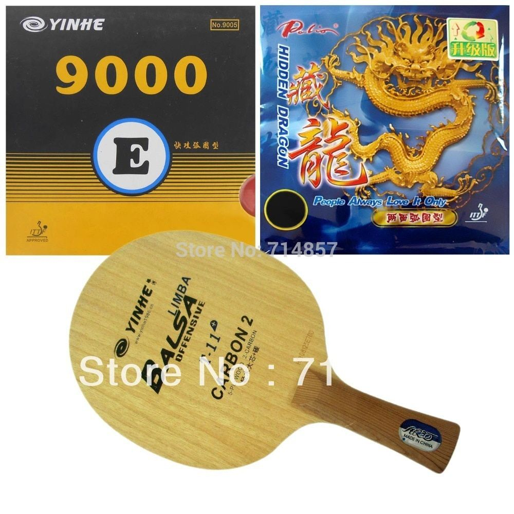 Galaxy Yinhe T-11+ Table Tennis Blade with 9000E / Palio Hidden Dragon (upgrade) Rubber sponge racket Shakehand Long Handle FL