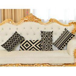 30 Cm Dekoratif Lumbar Bantal Cover Case Geometris Katun Linen Pinggang Bantal Cover untuk Sofa Rumah Dekorasi Rumah de Coussines
