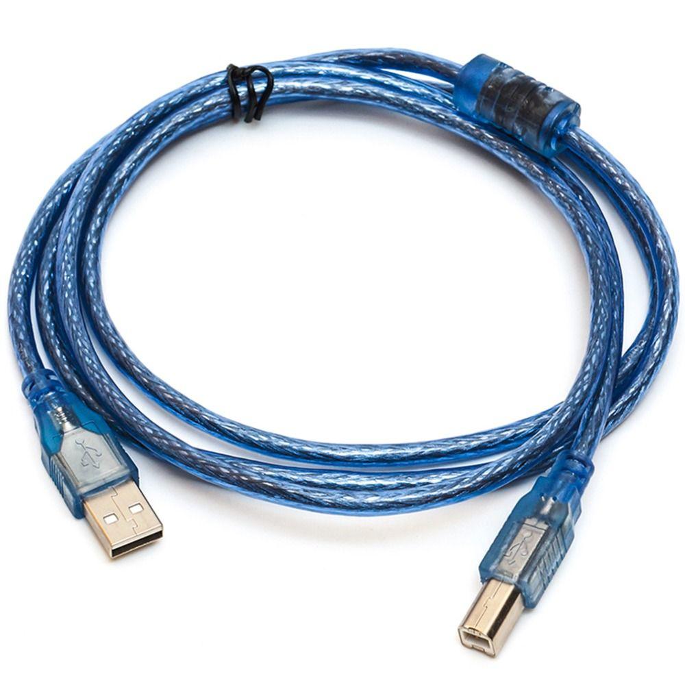 1,5/3/5 Mt Super Lange USB 2.0 Verlängerung Druck Kabel Transparent Blau Stecker auf USB2.0 Print Kabel für Drucker