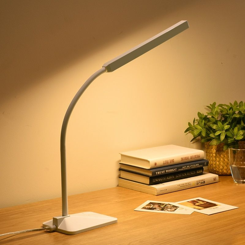 Eye Protection LED Desk Lamp 5-level Dimmer&Color Touch Control Flexible Reading Study Lamp Office Table Light Cold/Warm Light