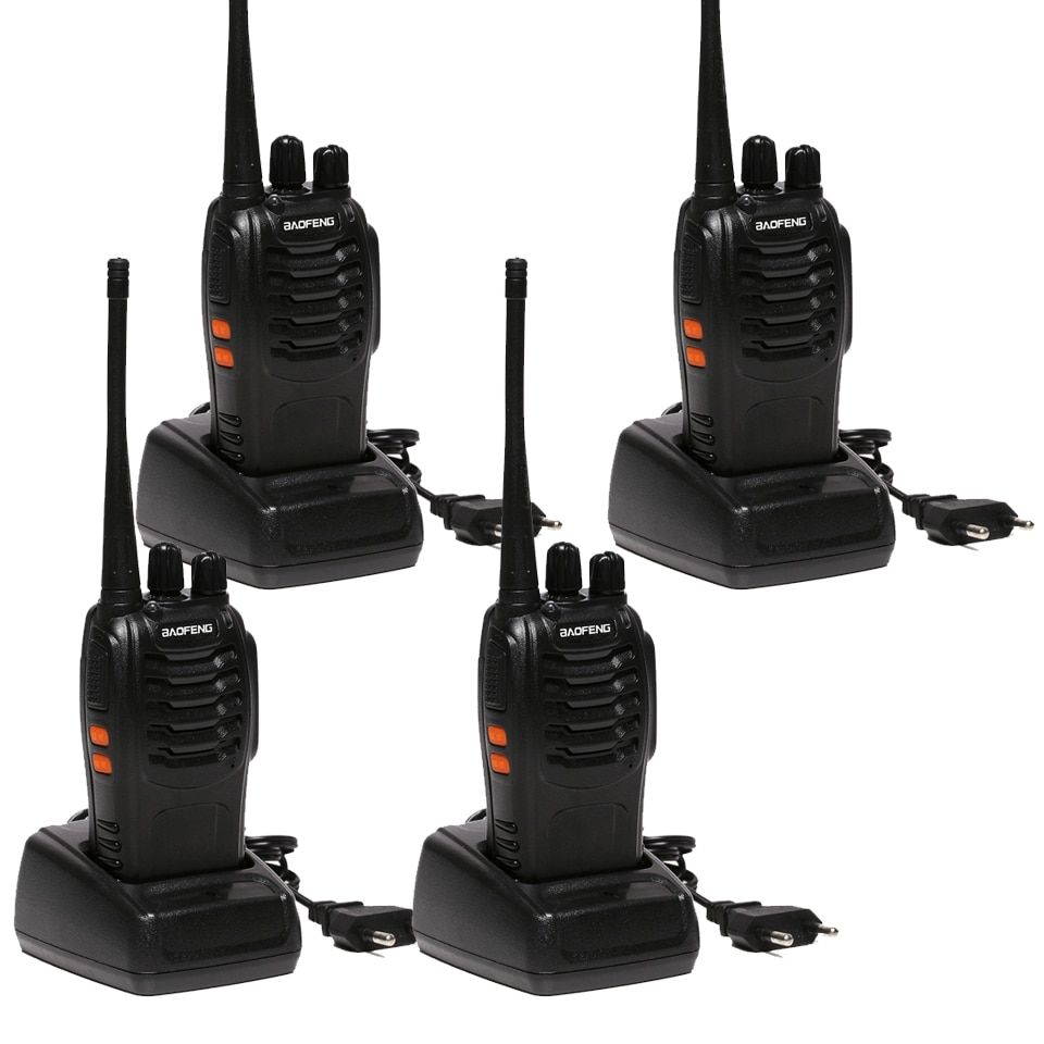 4 pcs/lot Two Way Radio baofeng BF-888S Talkie Walkie Double Bande 5 W De Poche Pofung bf 888 s 400-470 MHz UHF radio scanner