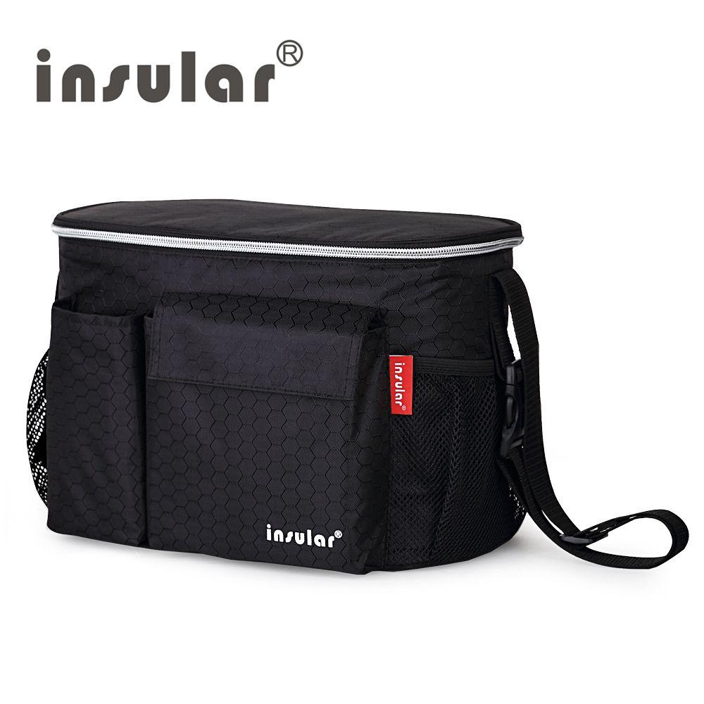 Sacs à couches isolants pour bébé de marque insulaire pour poussettes sacs à langer imperméables