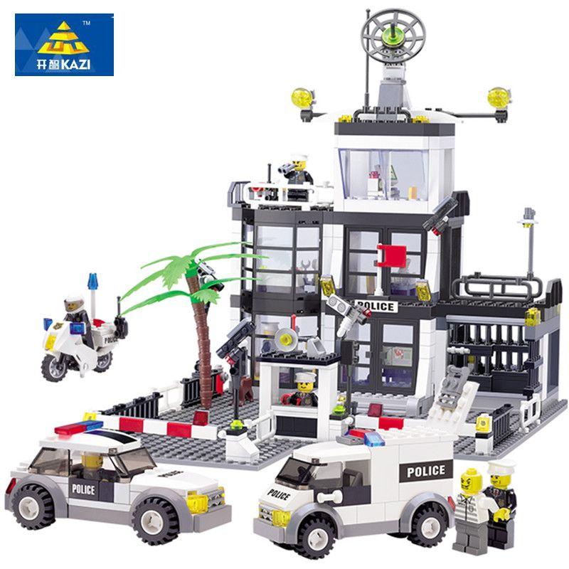 631Pcs LegoINGs City Police Station SWAT Car Building Blocks Sets Figures Friends Creator Bricks Educational Toys for children