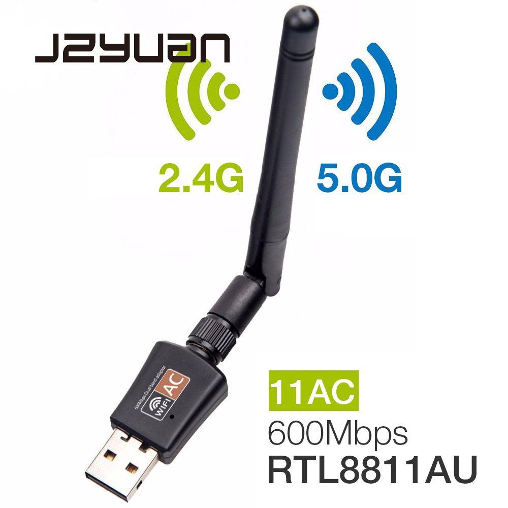 600 Mbps 5 Ghz 2.4 Ghz USB Wifi adaptateur USB double bande RTL8811AU Wifi antenne Dongle LAN adaptateur pour Windows Mac bureau/ordinateur portable/PC