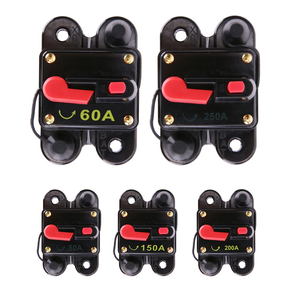 60A 80A 150A 200A 250A optional Car Audio Inline Circuit Breaker Fuse for 12V Protection Audio Inline Replace Fuse High Quality