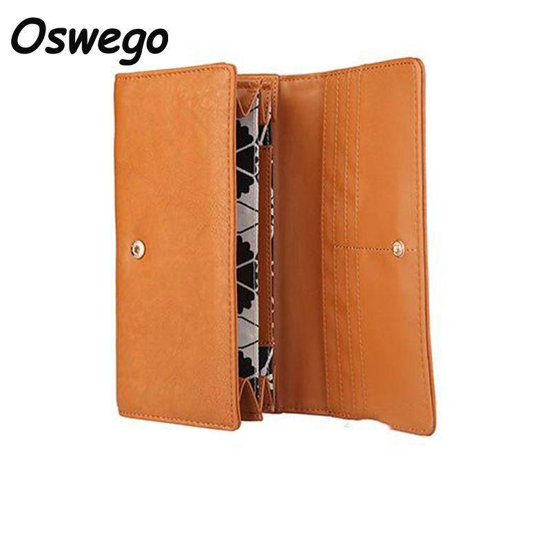 Drop Shipping Classic Design Frauen Lange Brieftasche