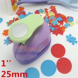 1 ''círculo punch 25mm arte de diy perforadora scrapbooking golpes eva fabricante niños scrapbook papel cortador sharper