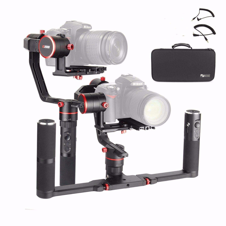 DHL Feiyu Tech Feiyu a2000 3-Axis Gimbal +Dual Handle Stabilizer for Canon 5D Series for SONY A7 Seri a6500, for Panasonic GH4/5