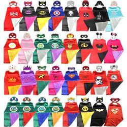 Superhero cape (1CAPE+1MASK)batman super Hero Costume for Children Halloween  Party Costumes for Kids superman spiderman