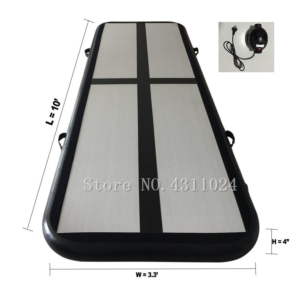 Inflatable Gymnastics AirTrack Tumbling Mat Air Track Floor Mats with Electric Air Pump Length 9.8foot-(300cm)
