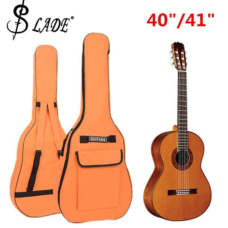 40/41 pouces sac de guitare 600D Oxford tissu guitare acoustique Gig sac doux épaissir étui Double bretelles guitare rembourrée