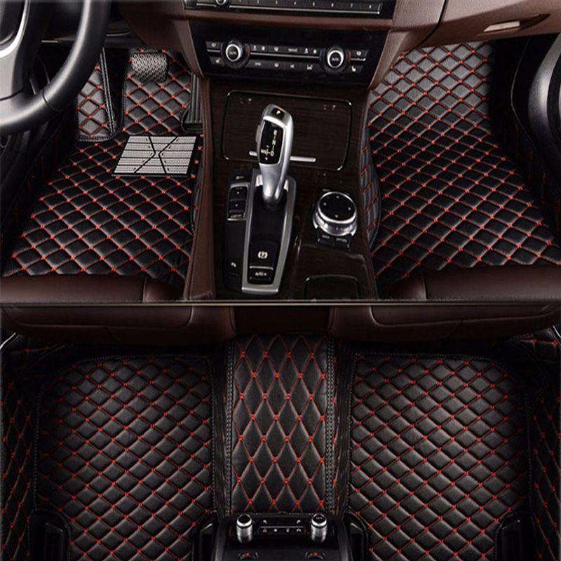 -Matte leder auto boden matten für Audi A6L R8 Q3 Q5 Q7 S4 S5 S8 RS TT Quattro A1 a2 A3 A4 A5 A6 A7 A8 auto zubehör styling