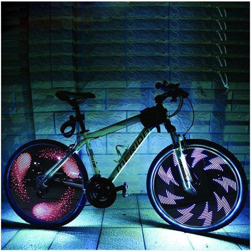 Leadbike roue de bicyclette légère Double Affichage 21 Flash Modèles Avec 32 RGB led Lumières Lampe pour Vélos Nuit Équitation Livraison Gratuite