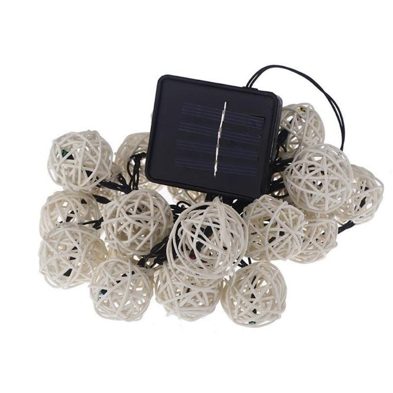 9 mt 20 Rattan Ball Led string licht nacht warme Weihnachten Weihnachten laterne Hochzeit Girlande decor vorhang Dekoration lichter fee lampen