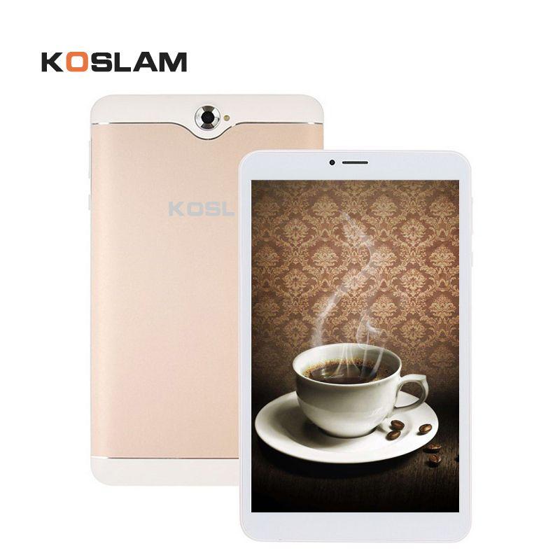 KOSLAM Android 7 MTK Quad Core 7 Zoll tablet PC 1 GB RAM 8 GB ROM Dual SIM Einbauschlitz AGPS WIFI Bluetooth