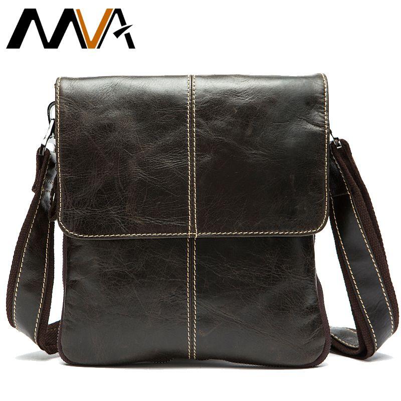 MVA Messenger sac pour hommes en cuir véritable sac à bandoulière pour hommes en cuir homme mode petit rabat homme sacs à bandoulière sacs à main 8006