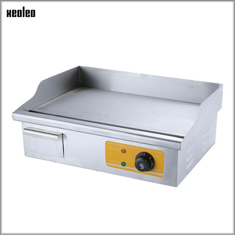 XEOLEO Commercial Electric grill Temperature control Griddle Stainless steel Electric Flat plate griddle Fried Chicken wings 3KW