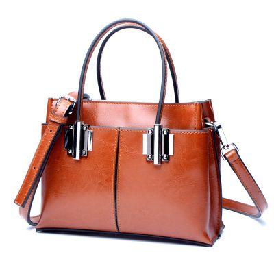 2017 new arrvial Genuine Leather Bag Female Large <font><b>Shoulder</b></font> women handbag