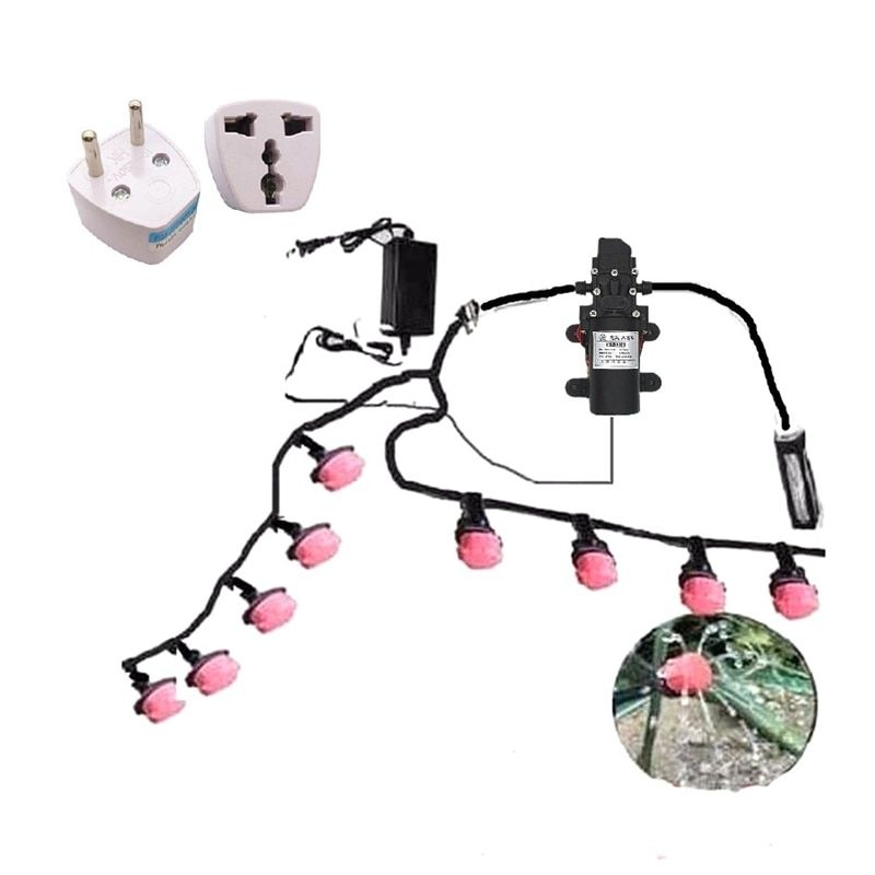 20m 4/7mm 2m 8/11mm Hose Watering Kit Garden Flowers DC Pump Water System Gardening Spray Suits Drip Irrigation System