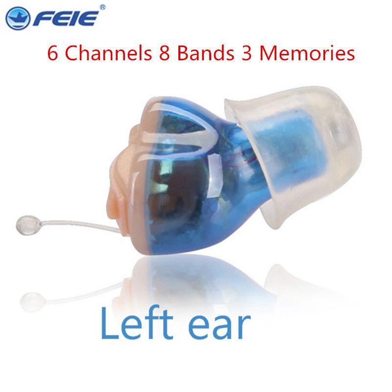 6 kanal Digital Hörgerät Unsichtbare Feie Digitale Hörgeräte Kopfhörer Verstärker S-16A Einstellbar Ton Stimme Drop Verschiffen