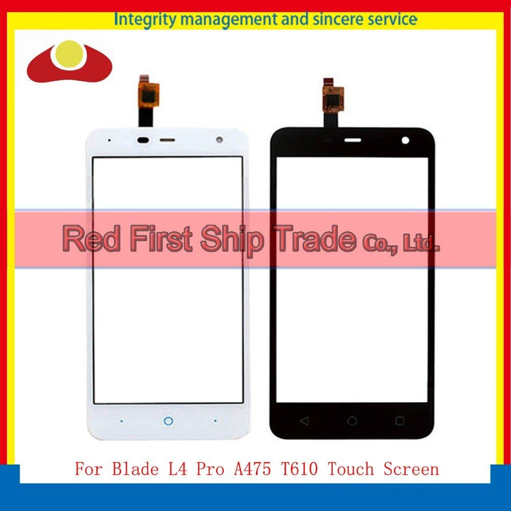 High Quality 5.0 For ZTE Blade L4 Pro A475 T610 Touch Screen Digitizer Sensor Lens Glass Panel Black White Tracking Code