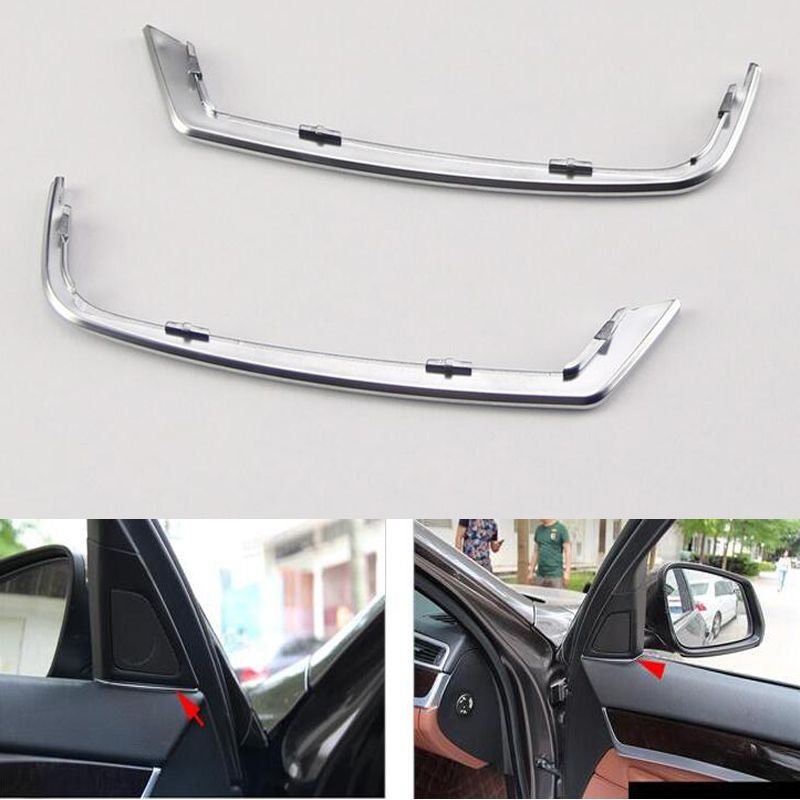 For BMW 5 Series 525 520 F10 2011 2012 2013 Car Front Door Audio Speaker Strip Stereo Decal Cover Trim Styling Mouldings Sticker