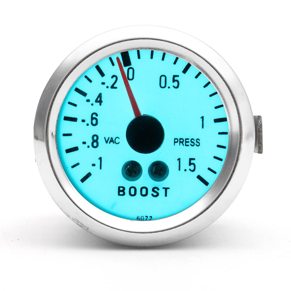 2 Inch 52mm Boost Gauge Chrome Rim Electro Mechanical Luminescent Automobile 0 to 1.5