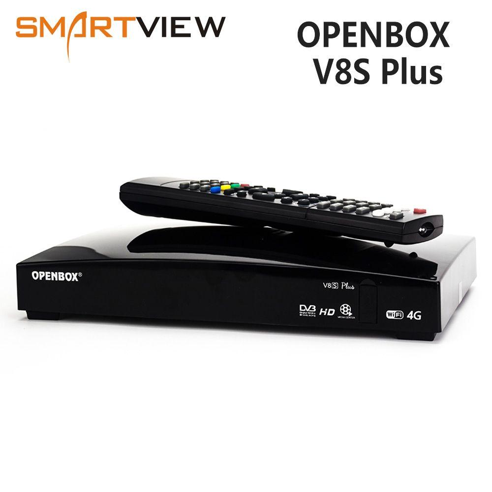 D'origine Openbox V8S Plus Récepteur DVB-S2 Numérique récepteur satellite Soutien Xtream Youtube Biss Key 2x USB USB Wifi 3G modem