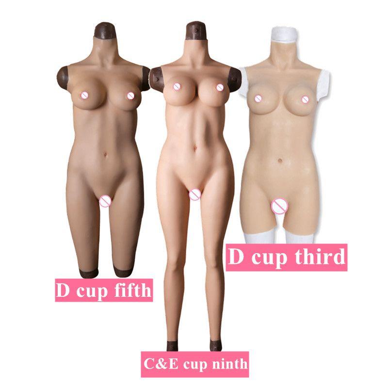 CDE Tasse Voll Silikon Strumpfhosen Rubber Body Crossdress Männlichen zu Weiblichen Transsexual Cosply Transgender Gefälschte Silikon Brust Form