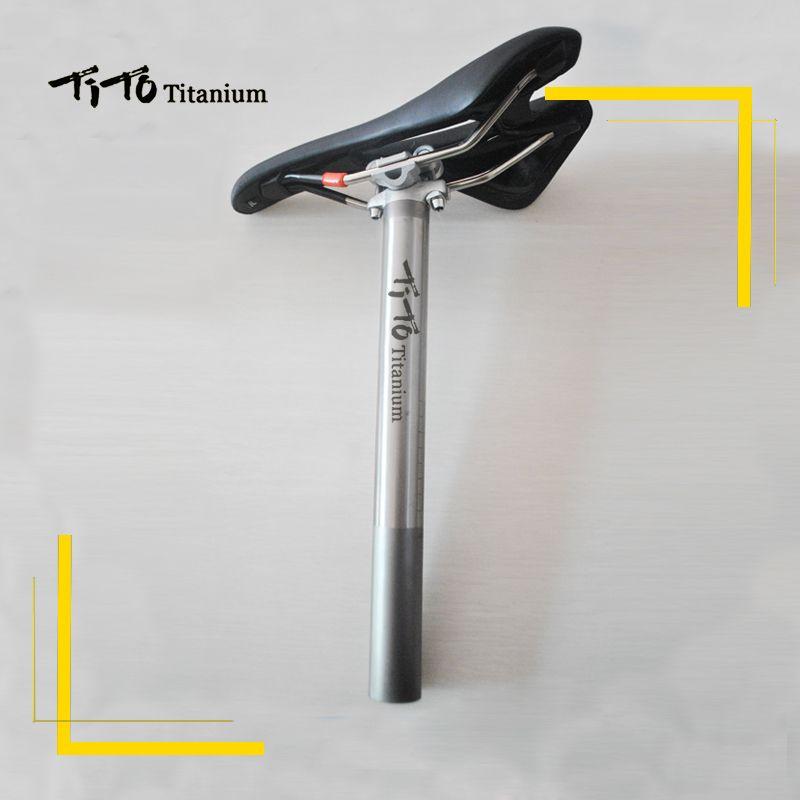 TiTo Titanium alloy Bike seatpost for MTB/Road bicycle seat post 27.2/30.9/31.6mm*350mm titanium seat tube Aluminum head