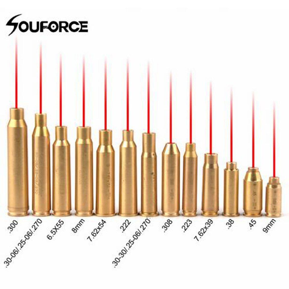 new red dot laser brass copper boresight CAL cartridge bore sighter for scope hunting adjustment