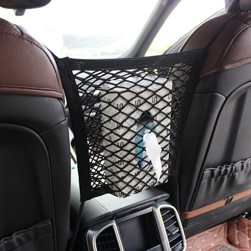 Car Organizer Seat Back Storage Elastic Car Mesh Net Bag Between Bag Luggage Holder Pocket For Auto Vehicles Car Styling