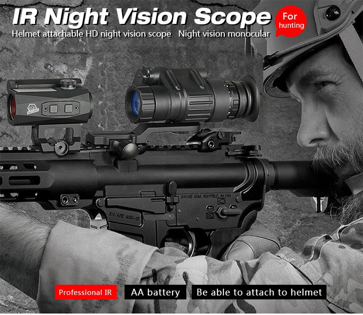 Factory Sell Directly Hunting PVS-14 Night Vision Scope Monocular Device Night Vision Goggles Digital IR Illumination GZ27-0008