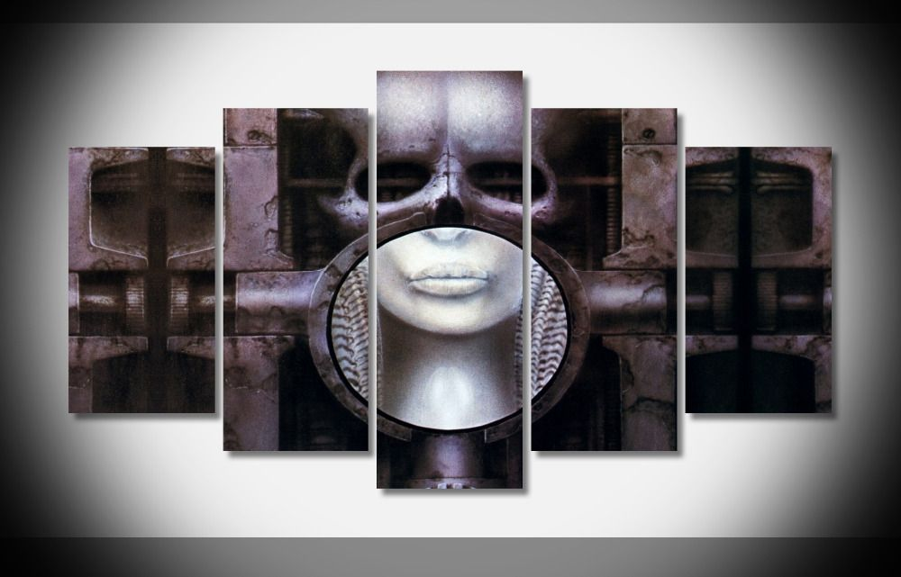 8367 Hr Giger Brain Fantasy poster Framed Gallery wrap art print home wall decor wall picture Already to hung digital print
