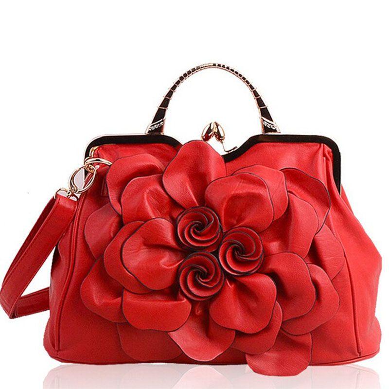 Frauen Handtaschen Schultertasche für Frauen Pu-leder Handtaschen Marken Beutel Taschen Nationalen Stil Blume frauen Tote Tasche Kupplung 2018