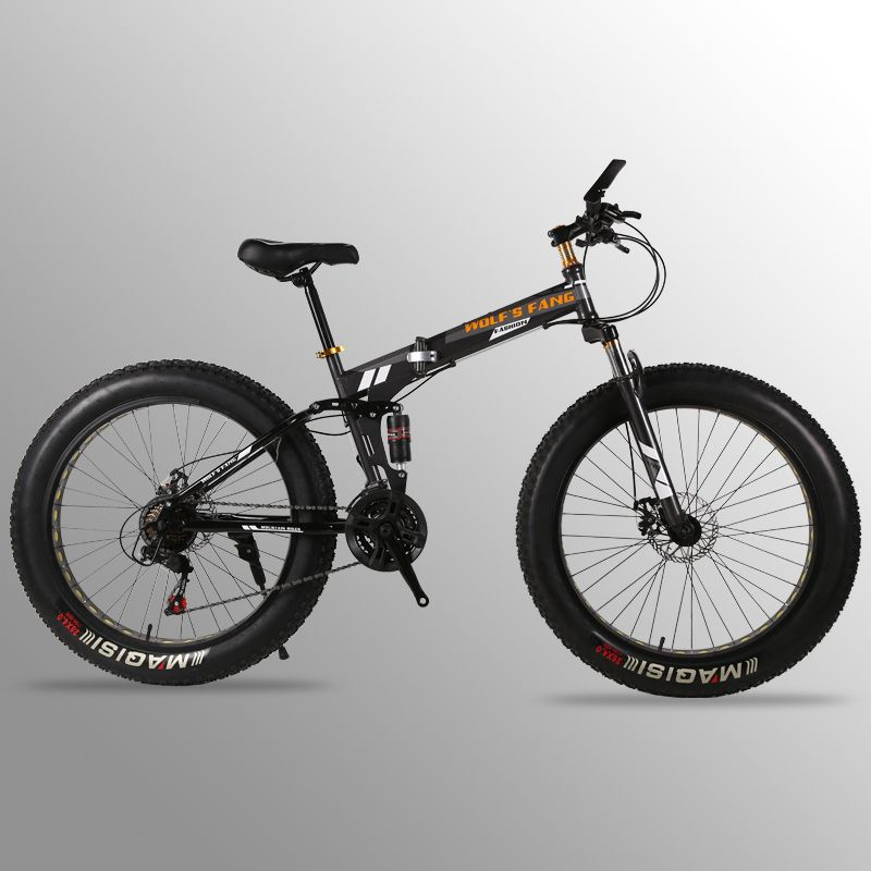 bicycle Folding Bicycle Mountain Bike 26 inches 21/24 Speed 26x4.0