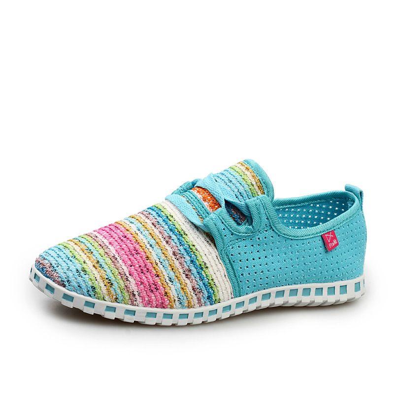 2018 offre spéciale été chaussures plates femmes Comortable décontracté chaussures à lacets appartements respirant en plein air femmes chaussures maille Zapatillas baskets