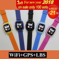 GPS Q90 WIFI Positionnement enfants Enfants Smart bébé Montre SOS Call Lieu Localisateur Tracker Kid Safe Anti Perdu Moniteur intelligent montre