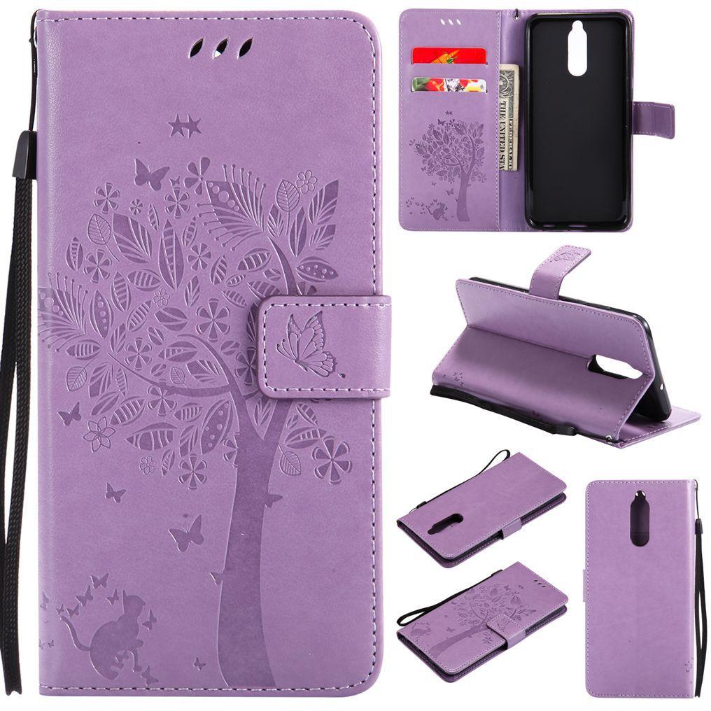 MuTouNiao Light Purple Leather Flip Case Cover For Huawei Honor 4A 4X 5C 5X 6A 6X 7 7A 7C 7i V8 V10 8 9 10 Lite Nexus 6P Nova 2i